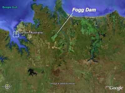 Fogg Dam map