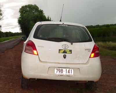 Car with TB sticke
