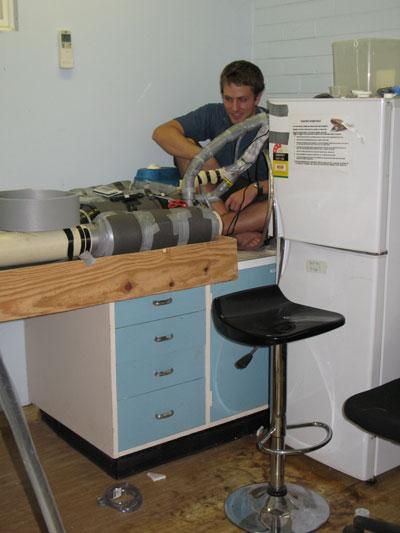 David Llewellyn constructs equipment