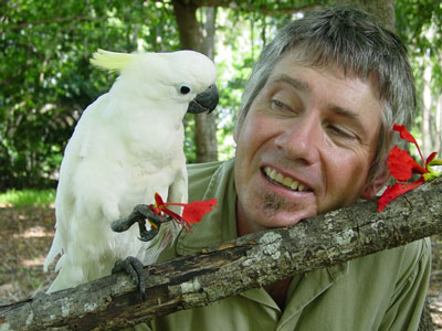 Greg and cockatoo