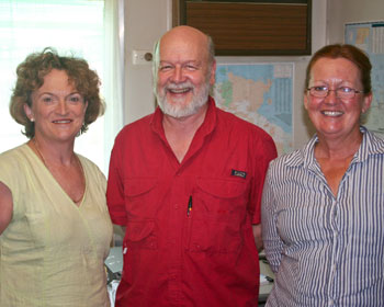 Rick with community group representatives Sandy Boulter and Lee Scott-Virtue