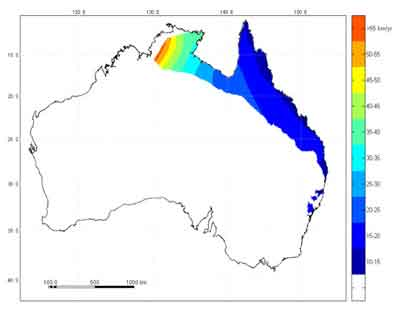 Range of Cane Toads in Australia